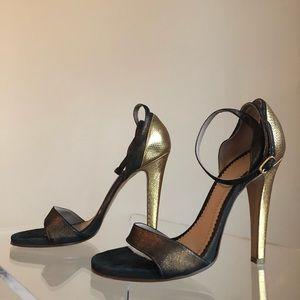 Chloe Gold & Bronze Heels in Size 37
